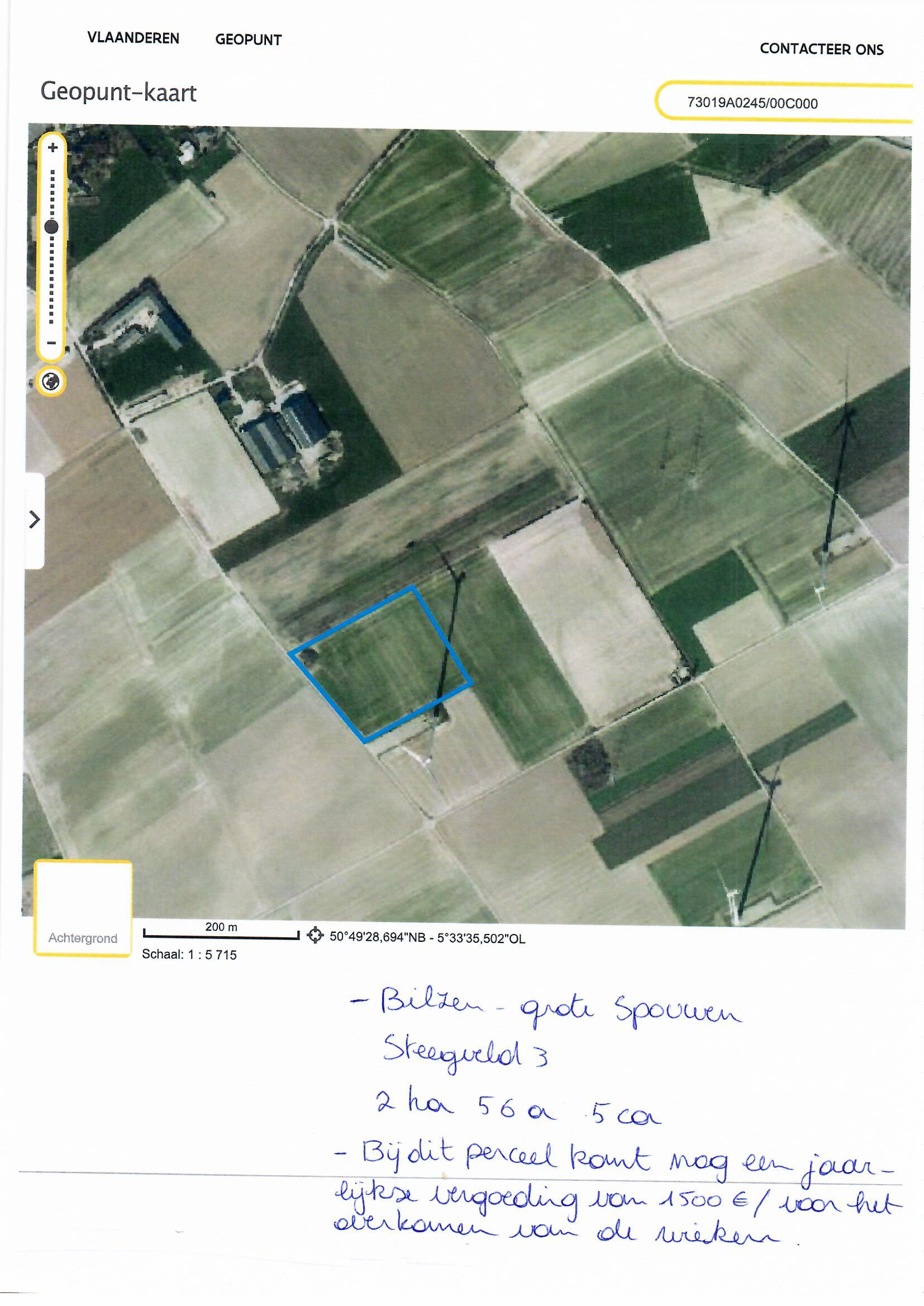 Landbouwgrond te koop Bilzen – Grote Spouwen